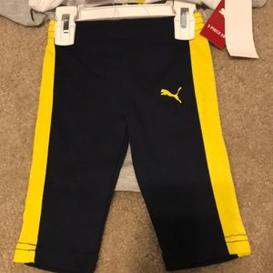 Puma Matching Sets - Size 0-3 NWT 3 Piece PUMA Set in Yell/Blk/Grey 😍